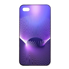 Abstract Fractal 3d Purple Artistic Pattern Line Apple Iphone 4/4s Seamless Case (black)