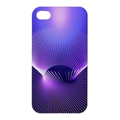 Abstract Fractal 3d Purple Artistic Pattern Line Apple iPhone 4/4S Hardshell Case