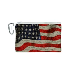 Vintage American flag Canvas Cosmetic Bag (S)