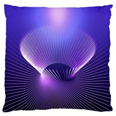 Abstract Fractal 3d Purple Artistic Pattern Line Large Cushion Case (One Side)