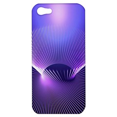 Abstract Fractal 3d Purple Artistic Pattern Line Apple iPhone 5 Hardshell Case