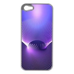 Abstract Fractal 3d Purple Artistic Pattern Line Apple iPhone 5 Case (Silver)