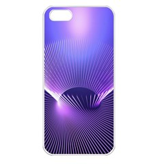 Abstract Fractal 3d Purple Artistic Pattern Line Apple iPhone 5 Seamless Case (White)
