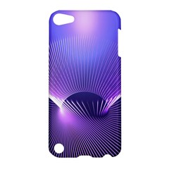 Abstract Fractal 3d Purple Artistic Pattern Line Apple iPod Touch 5 Hardshell Case