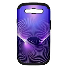 Abstract Fractal 3d Purple Artistic Pattern Line Samsung Galaxy S III Hardshell Case (PC+Silicone)
