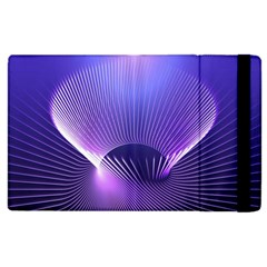 Abstract Fractal 3d Purple Artistic Pattern Line Apple iPad 3/4 Flip Case
