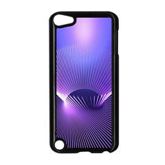Abstract Fractal 3d Purple Artistic Pattern Line Apple Ipod Touch 5 Case (black)