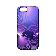 Abstract Fractal 3d Purple Artistic Pattern Line Apple iPhone 5 Classic Hardshell Case (PC+Silicone)