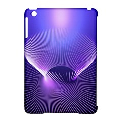 Abstract Fractal 3d Purple Artistic Pattern Line Apple Ipad Mini Hardshell Case (compatible With Smart Cover)
