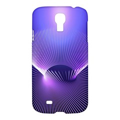 Abstract Fractal 3d Purple Artistic Pattern Line Samsung Galaxy S4 I9500/I9505 Hardshell Case