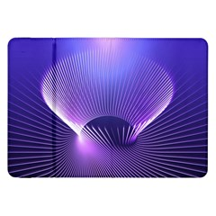 Abstract Fractal 3d Purple Artistic Pattern Line Samsung Galaxy Tab 8.9  P7300 Flip Case