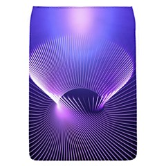 Abstract Fractal 3d Purple Artistic Pattern Line Flap Covers (S)