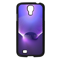 Abstract Fractal 3d Purple Artistic Pattern Line Samsung Galaxy S4 I9500/ I9505 Case (Black)
