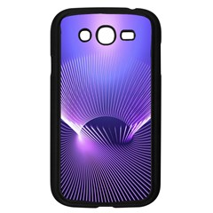 Abstract Fractal 3d Purple Artistic Pattern Line Samsung Galaxy Grand DUOS I9082 Case (Black)