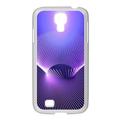 Abstract Fractal 3d Purple Artistic Pattern Line Samsung GALAXY S4 I9500/ I9505 Case (White)