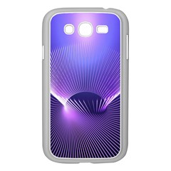 Abstract Fractal 3d Purple Artistic Pattern Line Samsung Galaxy Grand Duos I9082 Case (white)