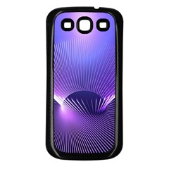 Abstract Fractal 3d Purple Artistic Pattern Line Samsung Galaxy S3 Back Case (Black)