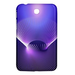 Abstract Fractal 3d Purple Artistic Pattern Line Samsung Galaxy Tab 3 (7 ) P3200 Hardshell Case