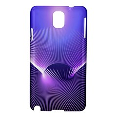 Abstract Fractal 3d Purple Artistic Pattern Line Samsung Galaxy Note 3 N9005 Hardshell Case