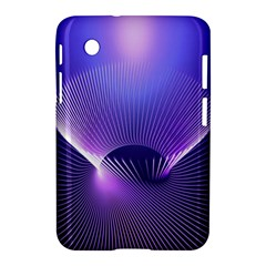 Abstract Fractal 3d Purple Artistic Pattern Line Samsung Galaxy Tab 2 (7 ) P3100 Hardshell Case