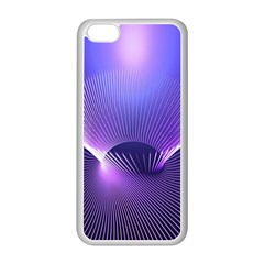 Abstract Fractal 3d Purple Artistic Pattern Line Apple iPhone 5C Seamless Case (White)