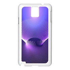 Abstract Fractal 3d Purple Artistic Pattern Line Samsung Galaxy Note 3 N9005 Case (white)