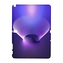 Abstract Fractal 3d Purple Artistic Pattern Line Galaxy Note 1