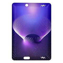 Abstract Fractal 3d Purple Artistic Pattern Line Amazon Kindle Fire HD (2013) Hardshell Case