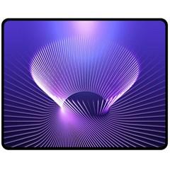 Abstract Fractal 3d Purple Artistic Pattern Line Double Sided Fleece Blanket (medium)