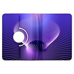 Abstract Fractal 3d Purple Artistic Pattern Line Kindle Fire HDX Flip 360 Case