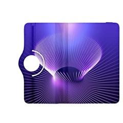 Abstract Fractal 3d Purple Artistic Pattern Line Kindle Fire HDX 8.9  Flip 360 Case