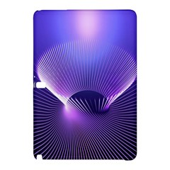 Abstract Fractal 3d Purple Artistic Pattern Line Samsung Galaxy Tab Pro 10.1 Hardshell Case
