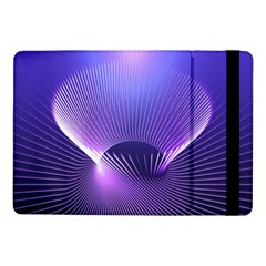 Abstract Fractal 3d Purple Artistic Pattern Line Samsung Galaxy Tab Pro 10.1  Flip Case