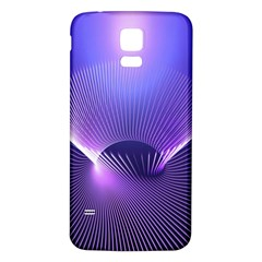 Abstract Fractal 3d Purple Artistic Pattern Line Samsung Galaxy S5 Back Case (White)