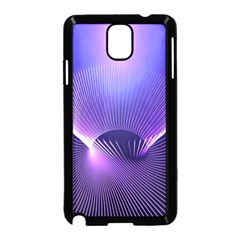 Abstract Fractal 3d Purple Artistic Pattern Line Samsung Galaxy Note 3 Neo Hardshell Case (Black)