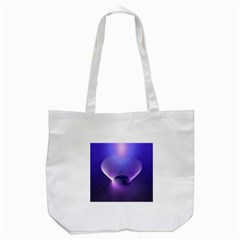 Abstract Fractal 3d Purple Artistic Pattern Line Tote Bag (White)