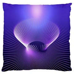 Abstract Fractal 3d Purple Artistic Pattern Line Large Flano Cushion Case (Two Sides)