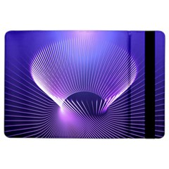 Abstract Fractal 3d Purple Artistic Pattern Line iPad Air 2 Flip