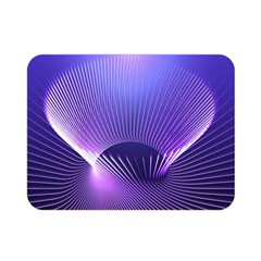 Abstract Fractal 3d Purple Artistic Pattern Line Double Sided Flano Blanket (Mini)