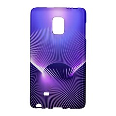 Abstract Fractal 3d Purple Artistic Pattern Line Galaxy Note Edge