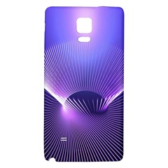 Abstract Fractal 3d Purple Artistic Pattern Line Galaxy Note 4 Back Case
