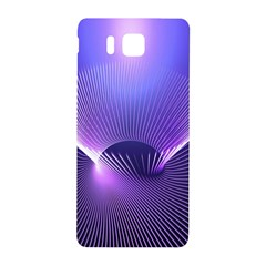 Abstract Fractal 3d Purple Artistic Pattern Line Samsung Galaxy Alpha Hardshell Back Case