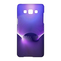Abstract Fractal 3d Purple Artistic Pattern Line Samsung Galaxy A5 Hardshell Case
