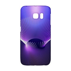 Abstract Fractal 3d Purple Artistic Pattern Line Galaxy S6 Edge