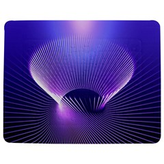 Abstract Fractal 3d Purple Artistic Pattern Line Jigsaw Puzzle Photo Stand (rectangular)