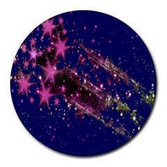 Stars Abstract Shine Spots Lines Round Mousepads