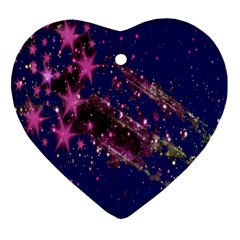 Stars Abstract Shine Spots Lines Ornament (heart)
