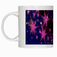 Stars Abstract Shine Spots Lines White Mugs