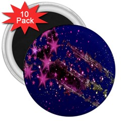 Stars Abstract Shine Spots Lines 3  Magnets (10 pack)
