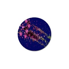 Stars Abstract Shine Spots Lines Golf Ball Marker